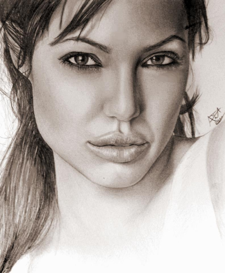 Angelina Jolie Drawing By Analuizantunes On DeviantArt