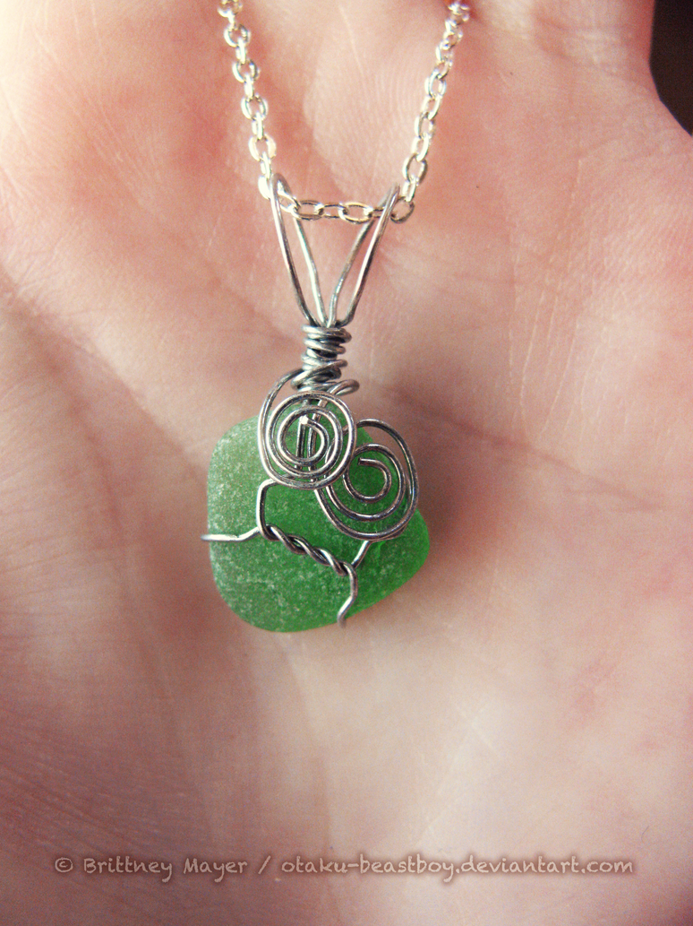 Wire Wrapped Sea Glass Pendant By BrittyDee On DeviantART