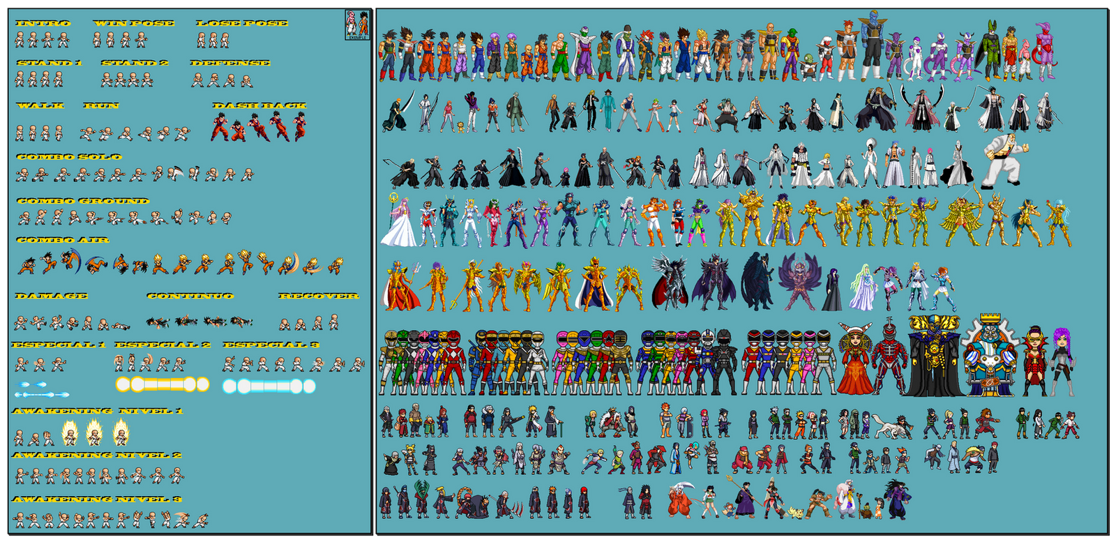 Sprite Base Personagens By Saderkyou Katachi On DeviantArt