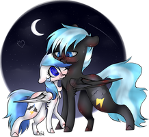 [C] Silver Skies X Atormchaser by OhFlaming-Rainbow