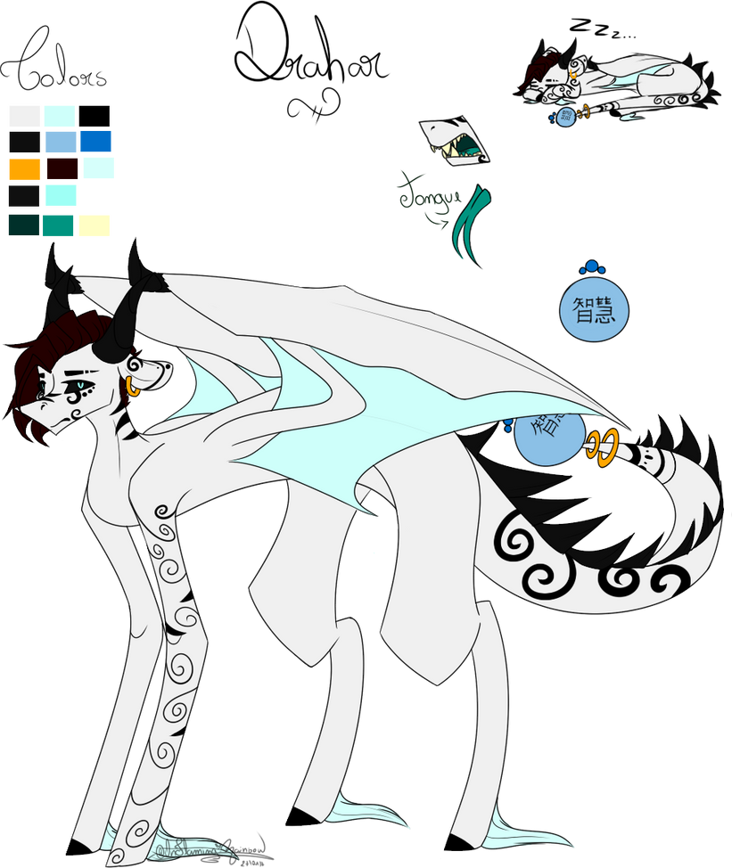 Drahar Reference Sheet 2.0 by OhFlaming-Rainbow
