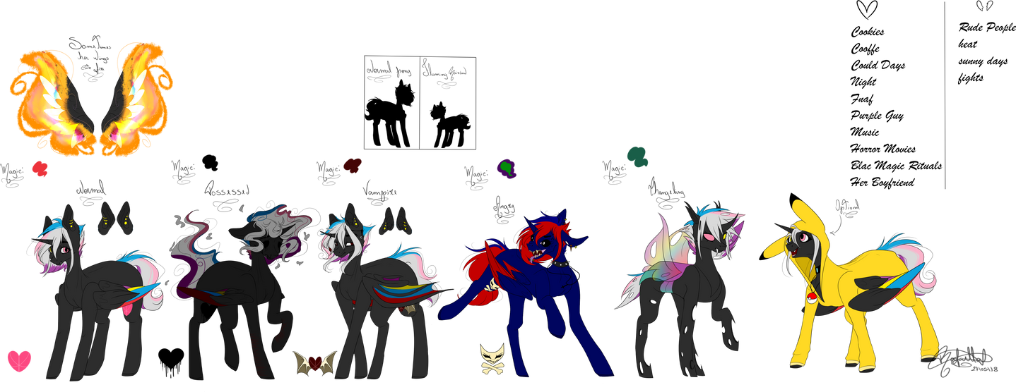 .:Flaming Rainbow reference sheet 2018:. by OhFlaming-Rainbow