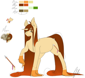 Amber - Reference Sheet 2019 by OhFlaming-Rainbow