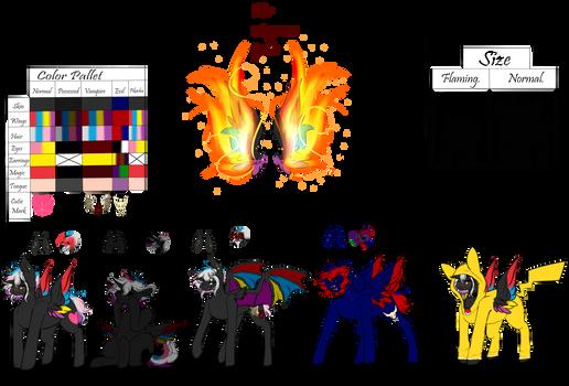 Reference sheet|| Flaming Rainbow V. 2019