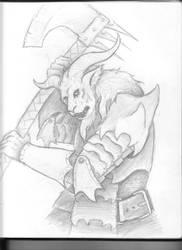 Demon Sketch by Saevus