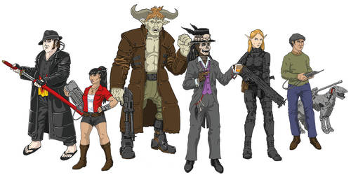 Shadowrun Crew Colored