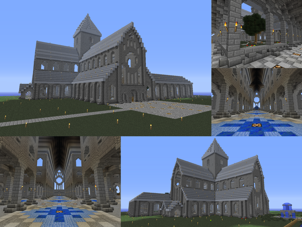 Minecraft Cathedral by Ammoniite
