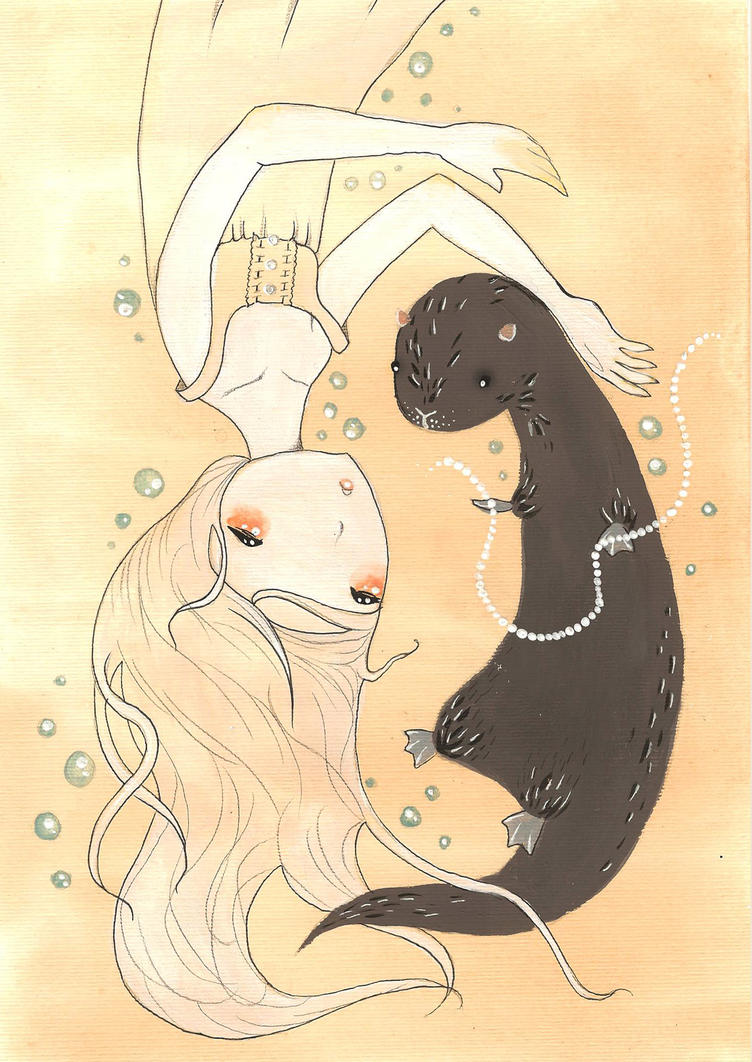 Otter by Orenji-art