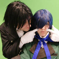 Ciel Phantomhive and Sebastian by Miru-sama
