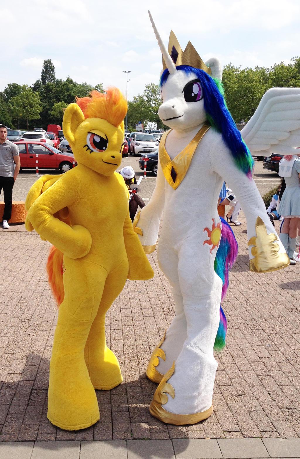Spitfire and Celestia [My little Pony] Costume by Miru-sama