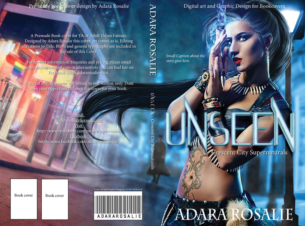 Unseen PreMade Book cover design by AdaraRosalie