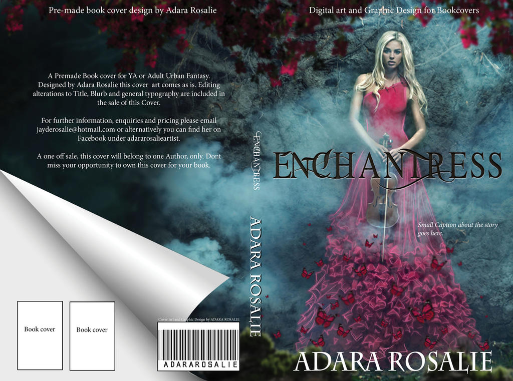 ENCHANTRESS Premade Book cover  by AdaraRosalie