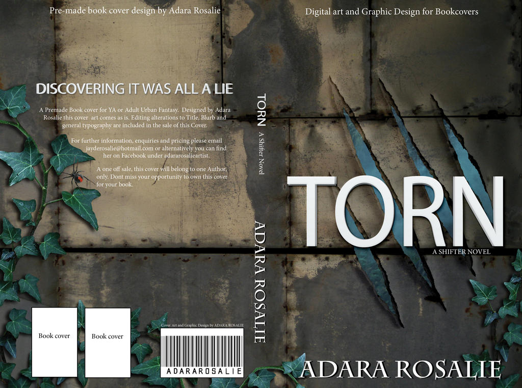 TORN Premade Book cover s by AdaraRosalie