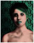 Photoshop test - Female green