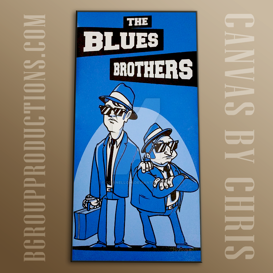 The blues brother spray painted on canvas by cgianelloni