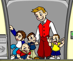 Midgets on Elevator by cgianelloni