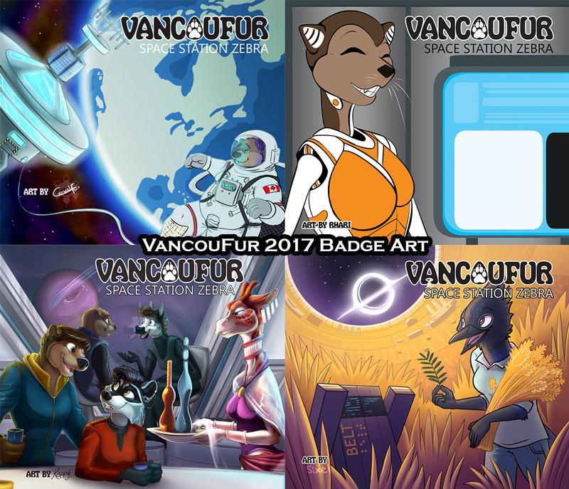VancouFur 2017 - Badge Art by Vancoufur