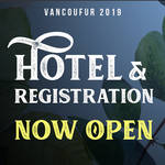 Hotel and Prereg are now open!