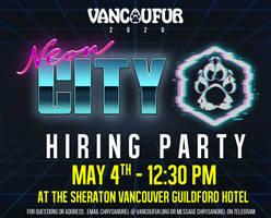 VF2020: Hiring party May 4th