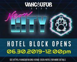 VancouFur 2020 room block opening soon!