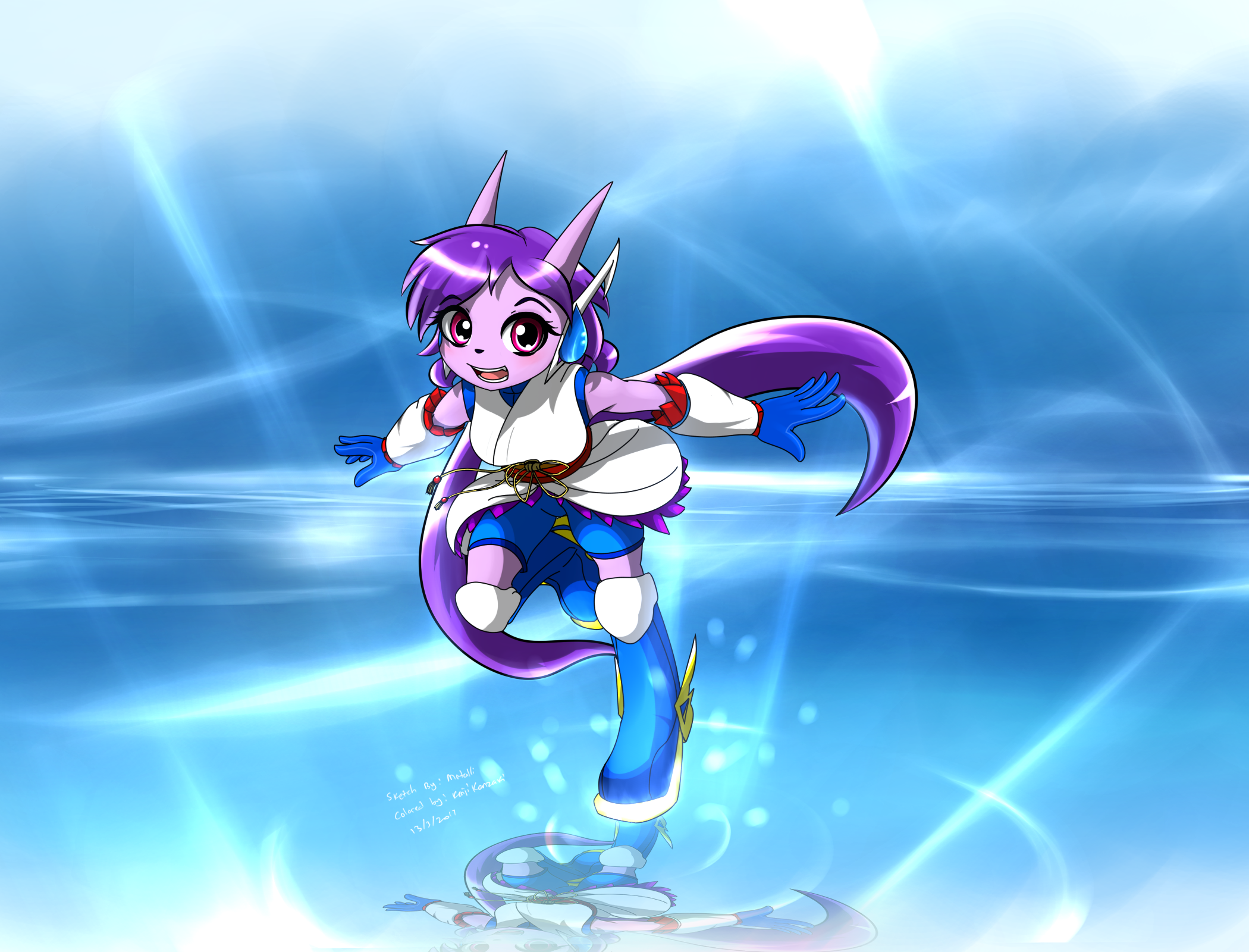 Sash Lilac collab with metalli by KenjiKanzaki05