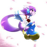 Sash Lilac the half breed water dragon by KenjiKanzaki05