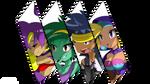 Battle cut Shantae and her friends