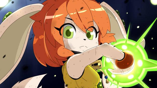 Milla Basset anime scene