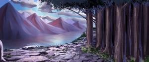 Fantasy Landscape Art.