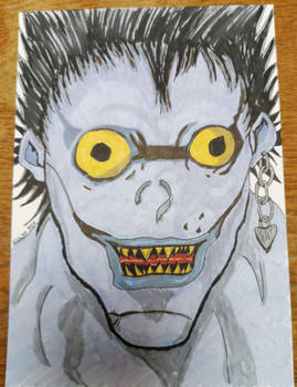 Ryuk from Death Note Doodle-Request + Video