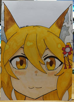 Senko from Sewayaki Kitsune no Senko-san (Doodle)
