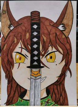 V - The Huntress [OC] - Doodle/Cover Art