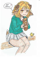 Coloring *Bread Girl* from NotImportant