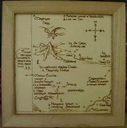 Thror's map (The Hobbit, in hungarian language) by botaandi