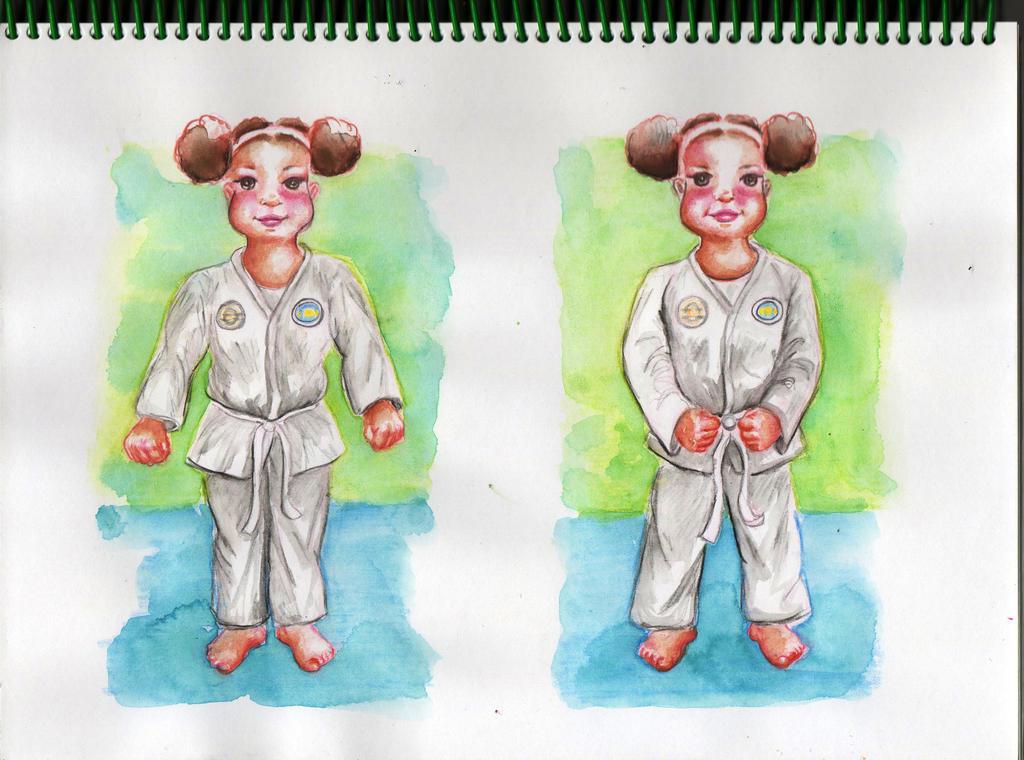 Posiciones basicas de taekwondo by MuyCelestial