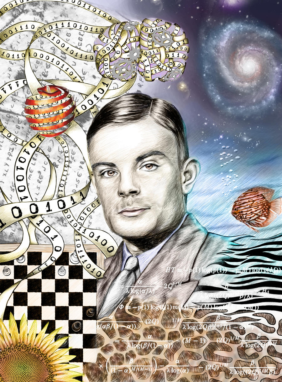 Alan Turing Centenary by Parrolo