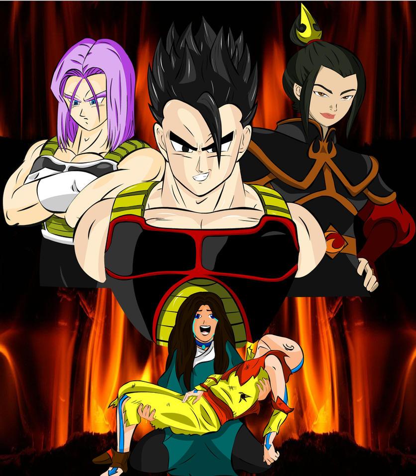 Gohan, Azula, Trunks, Katara y Aang by DARK-ZERO-0000