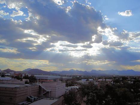 Sun rays of the city