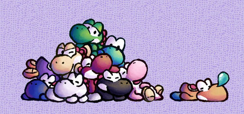 Pile O' Yoshis by MuzYoshi