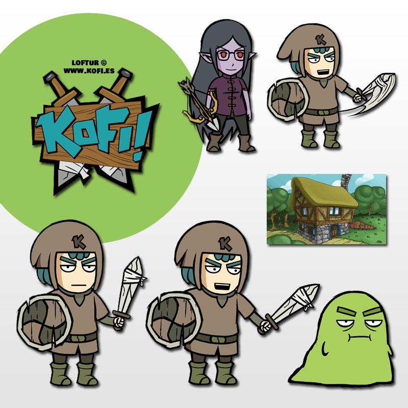 KOFI personajes by jesulink