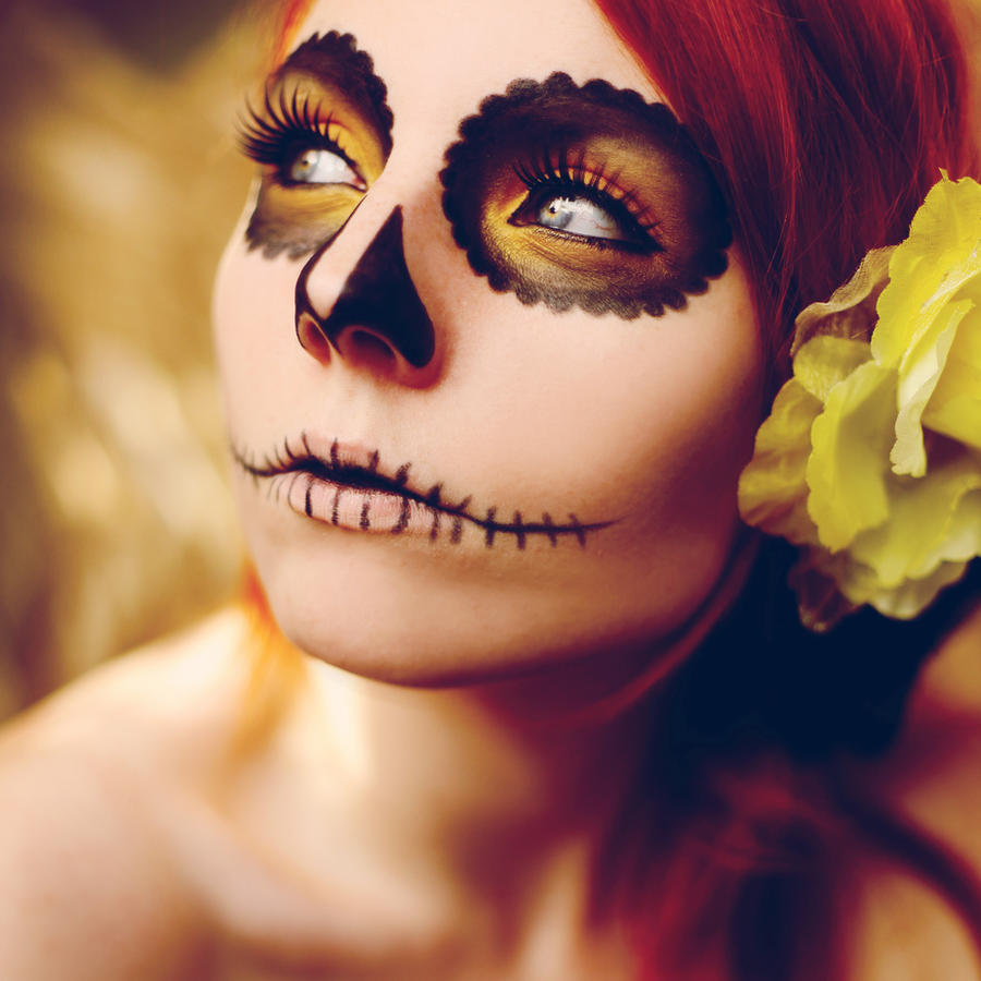 sugar skull 2 by photosofme on DeviantArt - Simple Pretty Halloween Makeup