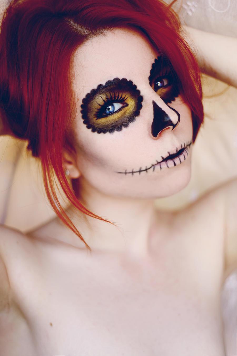sugar skull makeup wallpaper - photo #23
