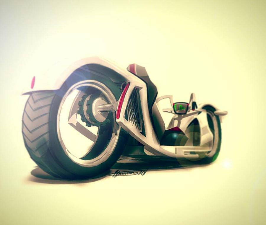 e-bike sketch by BlumersGirts