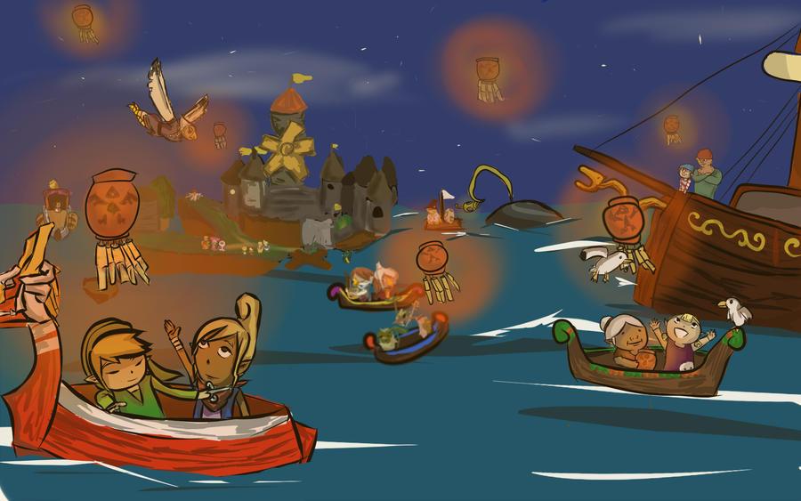 The Festival of Hyrule by oniyuri-chan