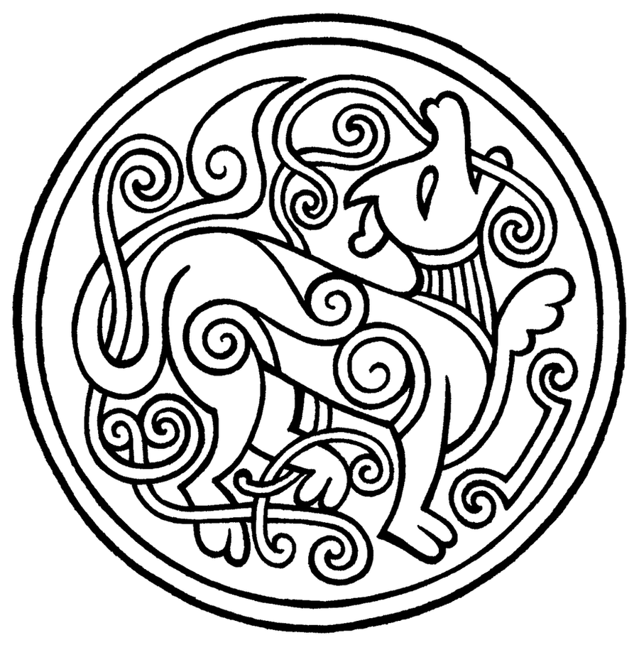 Old norse style tattoo by petrichora on deviantart for Ancient scandinavian designs