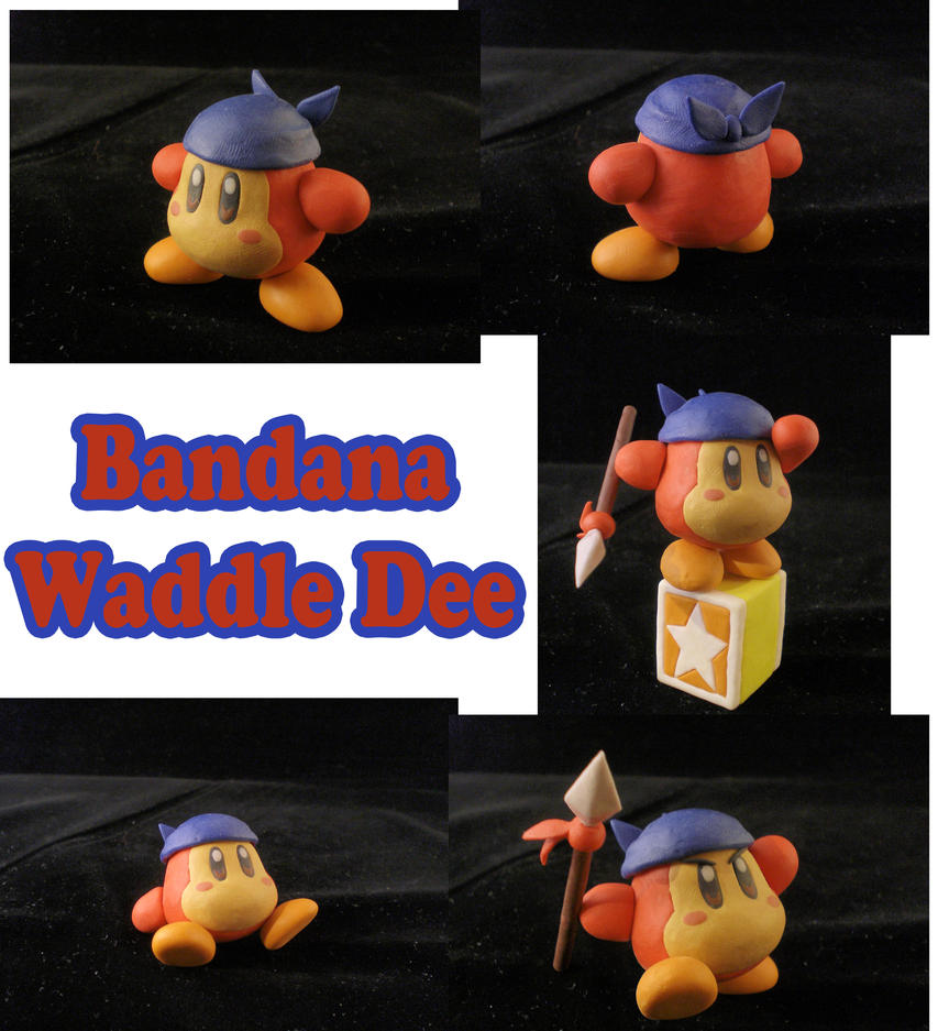 Bandana Waddle Dee Sculpture Collage By Claypita On
