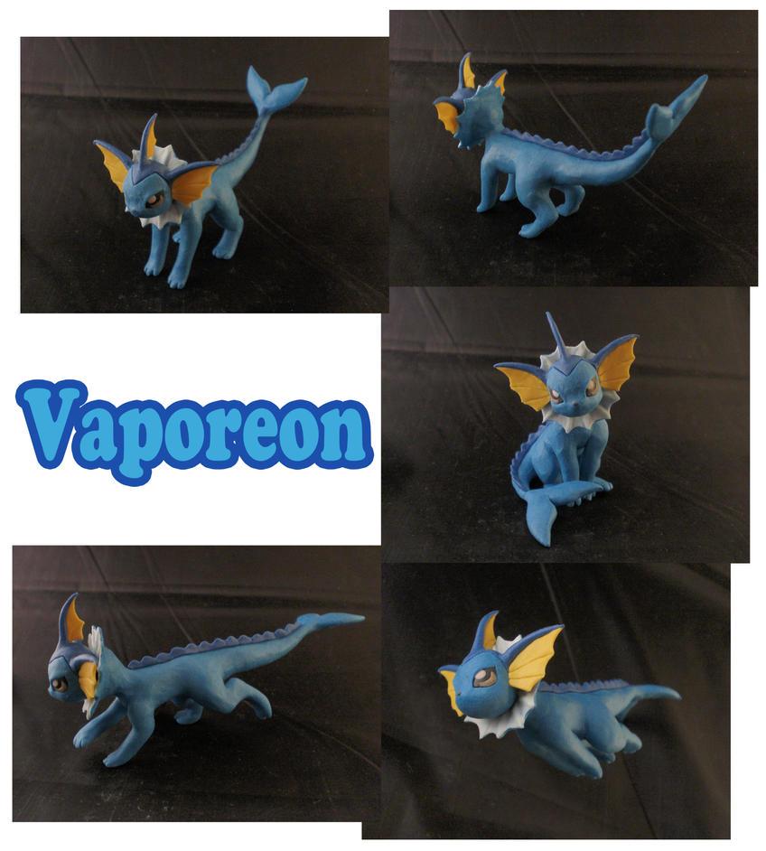 Vaporeon Sculpture: Collage by ClayPita