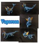 Vaporeon Sculpture: Collage