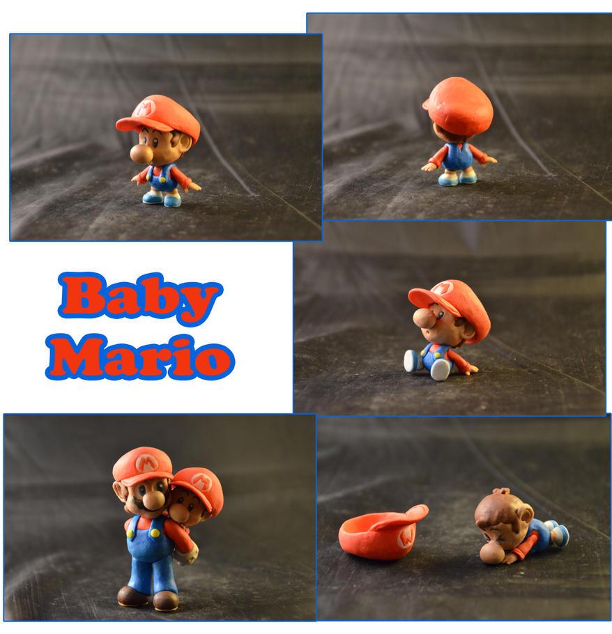 Weekly Sculpture: Baby Mario by ClayPita