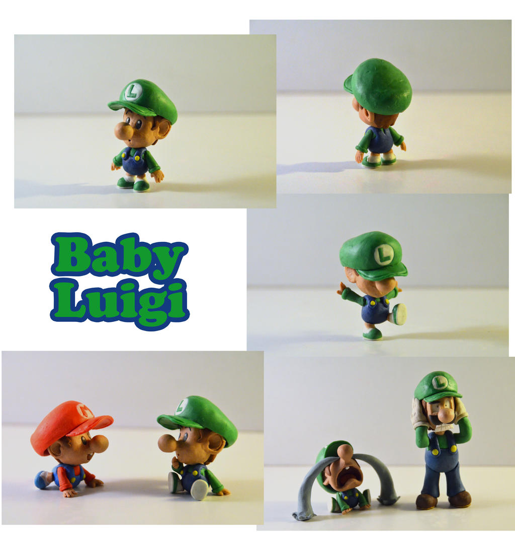 weekly sculpture baby luigi by claypita